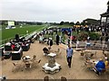 SK6100 : Leicester Racecourse - A view from the owners and trainers upper terrace by Richard Humphrey