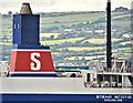 "J3778 : The ""Stena Scotia"" (funnel), Belfast Lough (September 2018) by Albert Bridge"