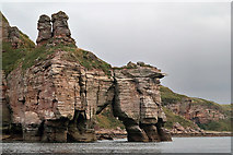 NT9955 : Needles Eye natural arch on the Berwickshire Coast by Walter Baxter
