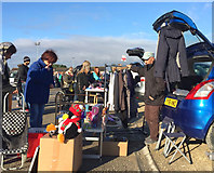 TA0729 : Car boot bargain hunting, Hull by Paul Harrop
