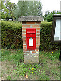 TL8928 : Wakes Colne Post Office Postbox by Adrian Cable