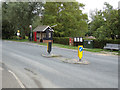 TL8928 : Wakes Colne Post Office Postbox & Bus Shelter by Geographer