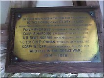 ST7807 : War Memorial, Ibberton Church Porch by Basher Eyre