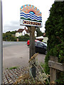 TL8928 : Chappel Village sign on The Street by Geographer