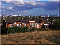 TQ1686 : Rowan Close and beyond from the recreation ground at Sudbury Court by Chris Brown