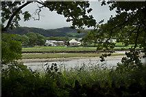 SD0995 : Hall Waberthwaite from across the River Esk by Mick Garratt