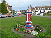 TM2632 : Old drinking fountain, Harwich Town station forecourt by Robin Webster