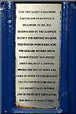 TM2532 : Explanatory plate on old postbox by Robin Webster