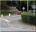SY6683 : Upwey railway station direction sign, Broadwey, Weymouth by Jaggery