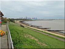 TM2531 : View towards Felixstowe Docks by Robin Webster