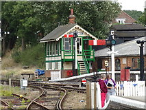 TL8928 : Chappel North Signal Box by Adrian Cable