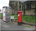 SD8110 : Edward VII postbox and telephone box on Parkhills Road, Bury by JThomas