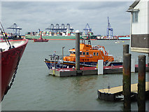 TM2532 : RNLB Albert Brown at Harwich Lifeboat Station by Robin Webster