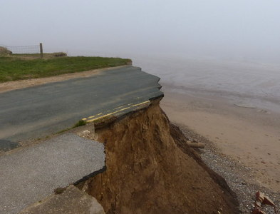 TA1756 : Erosion at the end of Mill Lane by Mat Fascione
