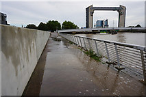 TA1028 : High tide on the River Hull near the tidal barrier by Ian S