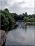 SK5702 : Weir across the River Soar in Leicester by Roger  Kidd