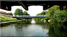 SK5803 : Bridges over the River Soar in Leicester by Roger  Kidd