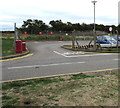 SO8921 : Entrance to Gloucestershire Airport car park, Staverton by Jaggery