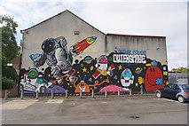 TA0830 : Street Art on Elm Street, Queens Road, Hull by Ian S