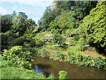 SJ8383 : River Bollin and the Lower Garden at Quarry Bank by David Dixon