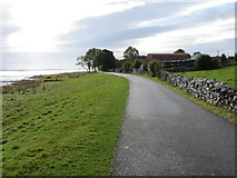 M9659 : Lakeside road between Portrunny and Cruit by Peter Wood