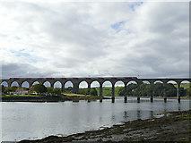 NT9953 : LNER train crossing the Royal Border Bridge by Stephen Craven