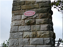 NT9953 : Plaque on the Royal Border Bridge by Stephen Craven
