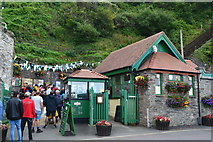 SS7249 : Lynton and Lynmouth Cliff Railway: Lynmouth station by David Martin