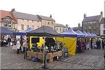 NU1813 : Saturday market, Alnwick by Richard Webb