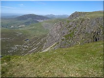SH5150 : Looking across to the Great Slab in Cwm Silyn by David Medcalf