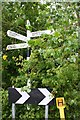 SK6230 : Signpost at Willow Brook / Selby Lane junction by Roger Templeman
