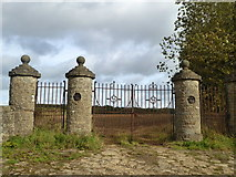 NZ2322 : The old gateway to Redworth House, Redworth by pam fray