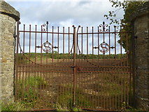 NZ2322 : The old gates to Redworth Hall, Redworth by pam fray
