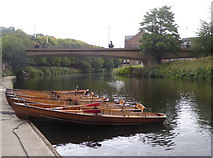 NZ2742 : Boats for hire on the River Wear, Durham by pam fray