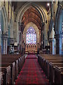 SJ0075 : Central aisle of St Margaret's Church, Bodelwyddan by Eirian Evans