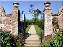 TQ1352 : Gateway to the Walled Garden at Polseden Lacey by Graham Hogg