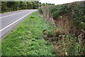 SK6332 : Ditch beside Melton Road opposite Laming Gap Plantation by Roger Templeman