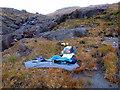 NG4920 : Setting up camp above Allt a' Choire Riabhaich by John Lucas