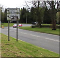 ST2994 : Directions sign near the southern end of St David's Road, Cwmbran by Jaggery