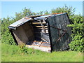SJ5962 : Overturned Shed near Eaton by Jeff Buck
