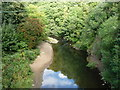 SD8012 : The River Irwell near Higher Woodhill by Christine Johnstone