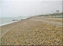 TQ3303 : Kemp Town, shingle beach by Mike Faherty