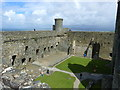SH5831 : Visitors enjoy Harlech Castle in the morning sunshine by Ruth Sharville
