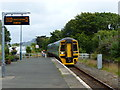 SH4938 : Class 158 train approaching Criccieth Station by Ruth Sharville