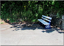 SX2553 : GWR bench on Looe railway station by Jaggery