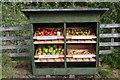 NT3236 : Apple stall near Innerleithen by Jim Barton