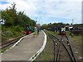 TQ9266 : Kemsley Down station on The Sittingbourne & Kemsley Light Railway by Marathon