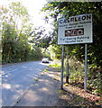 ST3391 : Northern boundary of Caerleon by Jaggery
