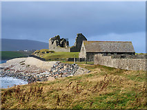 """HU3909 : Jarlshof Visitor Centre and the """"Old House of Sumburgh"""" by David Dixon"""