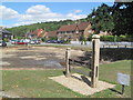 SP9612 : The Village Pond at Aldbury has been drained by Chris Reynolds